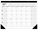 Monthly Desk / Wall Calendar 2020, 12 Months