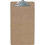 Hardboard Clipboards, Letter, Brown