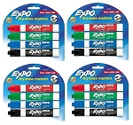 Dry Erase Markers,  Assorted Colors, 4pkgs (16 markers)