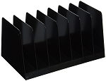 Desk Sorter, 7 Compartments, Black